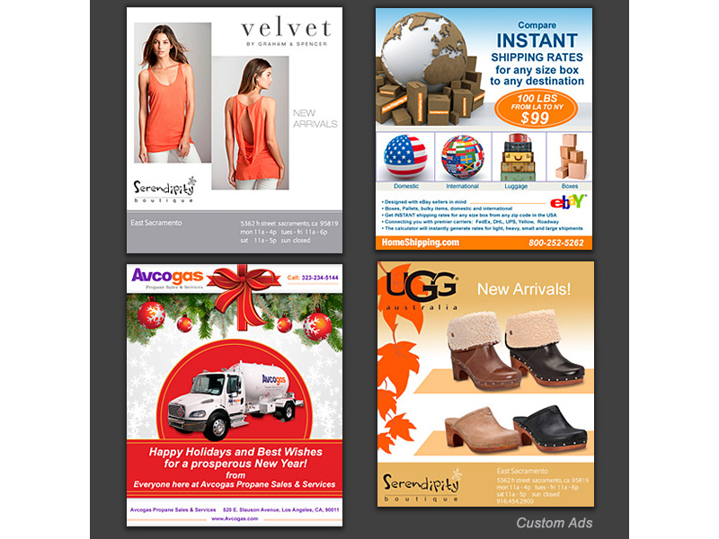 Email ads logos business cards postcards package design custom email ads colourmoves