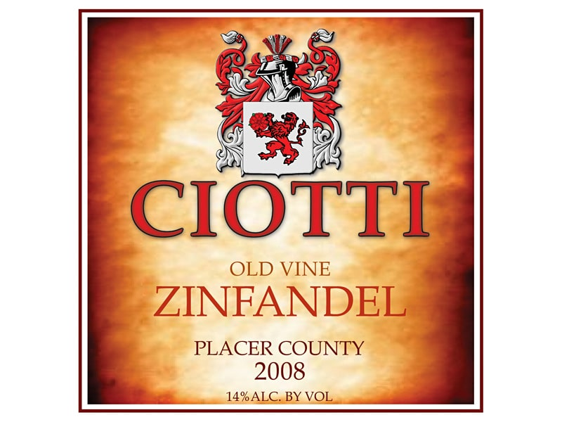 Ciotti Logo and Wine Label